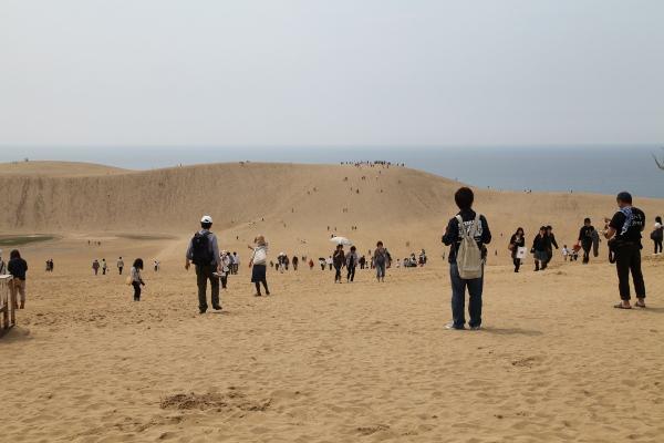 5月末の日曜日の鳥取砂丘